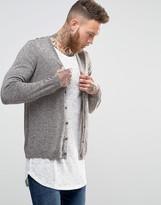 Asos Merino Wool Cardigan in Brown