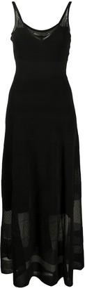 Roland Mouret Sheer-Panel Fine Knit Dress