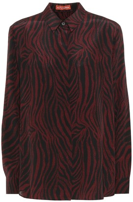 Altuzarra Chika zebra-print silk shirt
