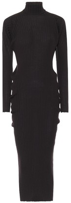 Bottega Veneta Ribbed-knit wool turtleneck dress