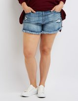 Charlotte Russe Plus Size Refuge Girlfriend Cut-Off Denim Shorts