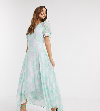 Ghost Exclusive fleur georgette maxi dress in floral print