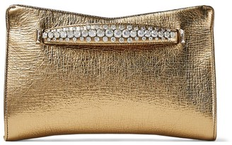 Jimmy Choo Metallic Leather Venus Clutch Bag