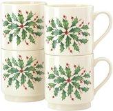 Lenox Holiday Stackable Mugs - 4 ct
