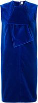 Maison Rabih Kayrouz velvet tied neck shift dress