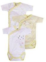Z Baby Boys' Lot De 3 Bodies Imprimé Nuage Bodysuit,3-6 Months pack of 3