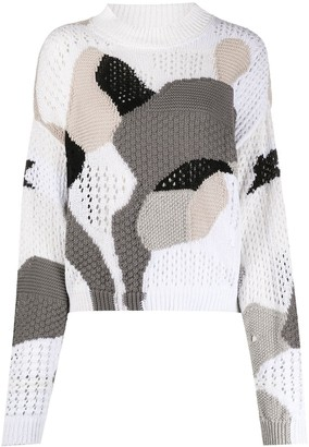 Off-White Patchwork Knitted Jumper