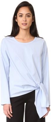 Theory Women's Serah Stretch Cotton Top
