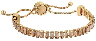 GUESS Slider Bangle with Baquette Stones (Gold) Bracelet