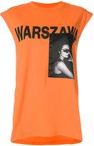 Misbhv sleeveless Warsaw print T-shirt