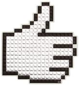 Anya Hindmarch Metallic Capra Leather Oversized Pixel Thumbs Up Sticker