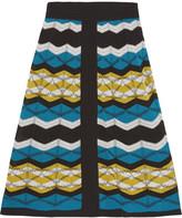M Missoni Crochet-knit cotton-blend midi skirt