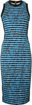 Nicole Miller striped fitted dress - women - Nylon/Polyester/Spandex/Elastane - 12