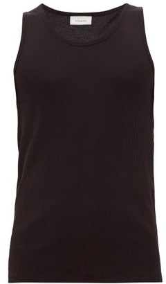 Lemaire Ribbed-knit Cotton-blend Vest - Mens - Black