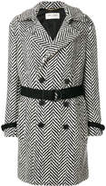 Saint Laurent herringbone wool Double-breasted coat