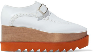 Stella McCartney Faux Glossed-leather Platform Brogues
