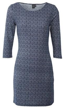 Dorothy Perkins Womens Izabel London Navy Geometric Print Shift Dress
