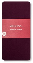 Merona Women's Tights 50 Denier Opaque Atlantic Burgundy