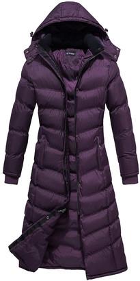 U2wear Women's Puffer Coats Maroon - Maroon Hooded Long Puffer Coat - Women & Plus