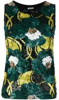 P.A.R.O.S.H. floral sequinned tank