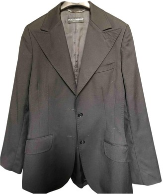 Dolce & Gabbana Black Wool Jackets