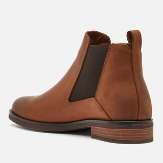Clarks Women's Memi Top Leather Chelsea Boots - Dark Tan