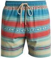 Faherty Aztec striped-print shorts
