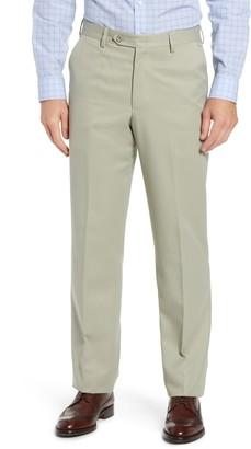 Berle Classic Fit Flat Front Microfiber Performance Dress Pants
