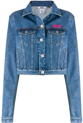 GCDS Cropped Denim Jacket