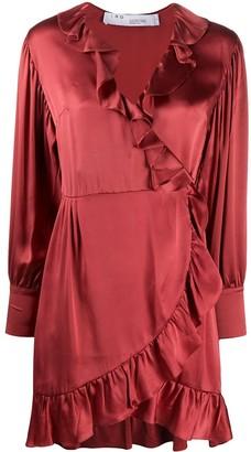 IRO Ruffled Silk Wrap Dress