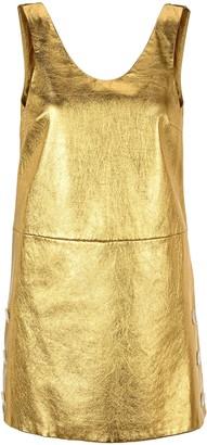 Prada Sleeveless Metallic Dress