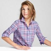 J.Crew Girls' pastel plaid shirt