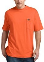 Wrangler RIGGS WORKWEAR by Men's Pocket T-Shirt, Safety Orange, Medium