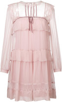 Alberta Ferretti tiered frill dress