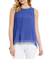 Daniel Cremieux Eden Sleeveless Pleated Chiffon Top