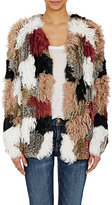 Ulla Johnson Women's Fur Patchwork Ynes Cardigan