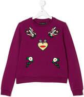John Richmond Kids embroidered patch sweatshirt