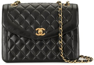 Chanel Pre Owned 1992 Diamond Quilted Double Chain Shoulder Bag