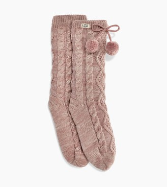 UGG Pom Lurex Fleece Lined Crew Sock
