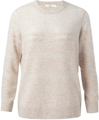 Ya-Ya Wool Blend Structured Knitted Sweater - Cream - small | beige - Beige