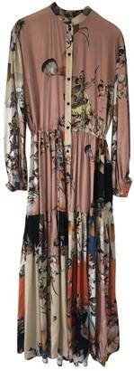 MUNTHE Multicolour Silk Dress for Women