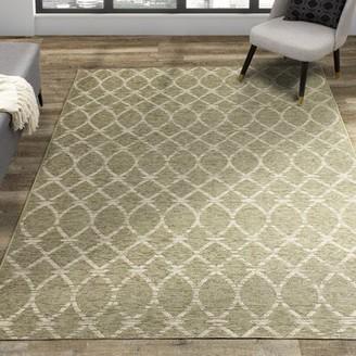 "Cassandra Charlton Home Latticework Indoor/Outdoor Beige Area Rug Charlton Home Rug Size: Rectangle 2'7"" x 4'11"""