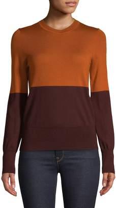 Equipment Wool Colourblock Crew Neck Sweater