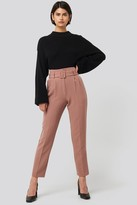 NA-KD Belted Suit Pants