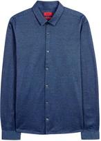Hugo Ero3 Blue Cotton Shirt