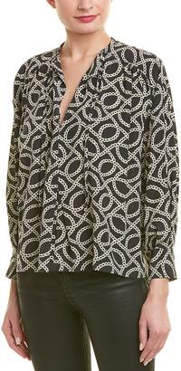 Isabel Marant Keyhole Silk-Blend Top