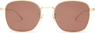 Bottega Veneta Round Metal Sunglasses - Brown