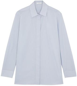 The Row Big Sisea striped cotton shirt