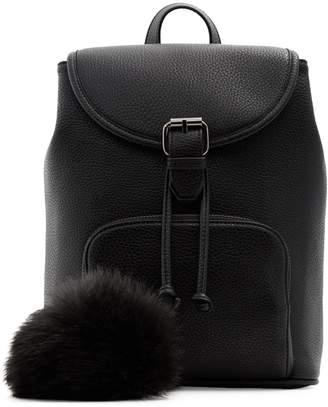 Aldo Kaeissa Faux Fur Pom-Pom Drawstring Backpack