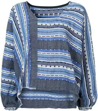 Lemlem striped embroidered details blouse